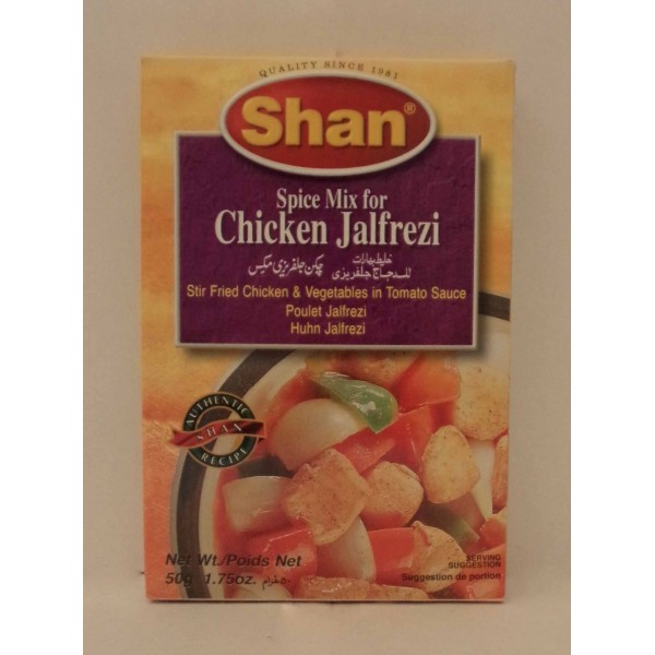 Shan Chicken Jalfrezi Masala Asian Food Centre Pack Size Grams 100gms Or 3 52oz